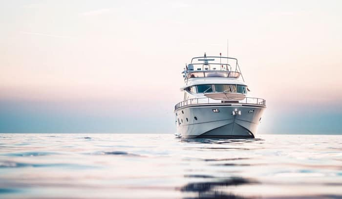 What should you do if a fire breaks out in the front of your boat
