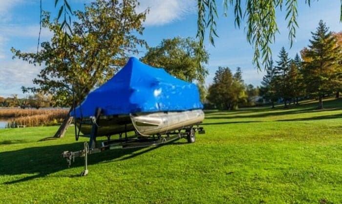 best pontoon boat cover support system