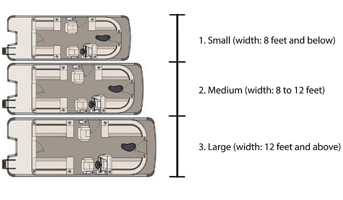 how wide is a pontoon boats