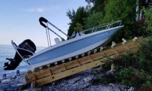 how to build a boat roller ramp